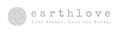 The logo of Earth Love, a partner of Cloverly who uses Cloverly's carbon offset integration with their ecommerce store.
