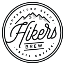 The logo of Hiker's Brew, a partner of Cloverly who uses Cloverly's carbon offset integration with their ecommerce store.
