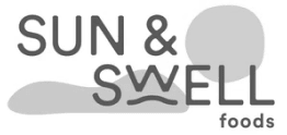 The logo of Sun & Swell, a partner of Cloverly who uses Cloverly's carbon offset integration with their ecommerce store.