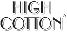 The logo of High Cotton, a partner of Cloverly who uses Cloverly's carbon offset integration with their ecommerce store.