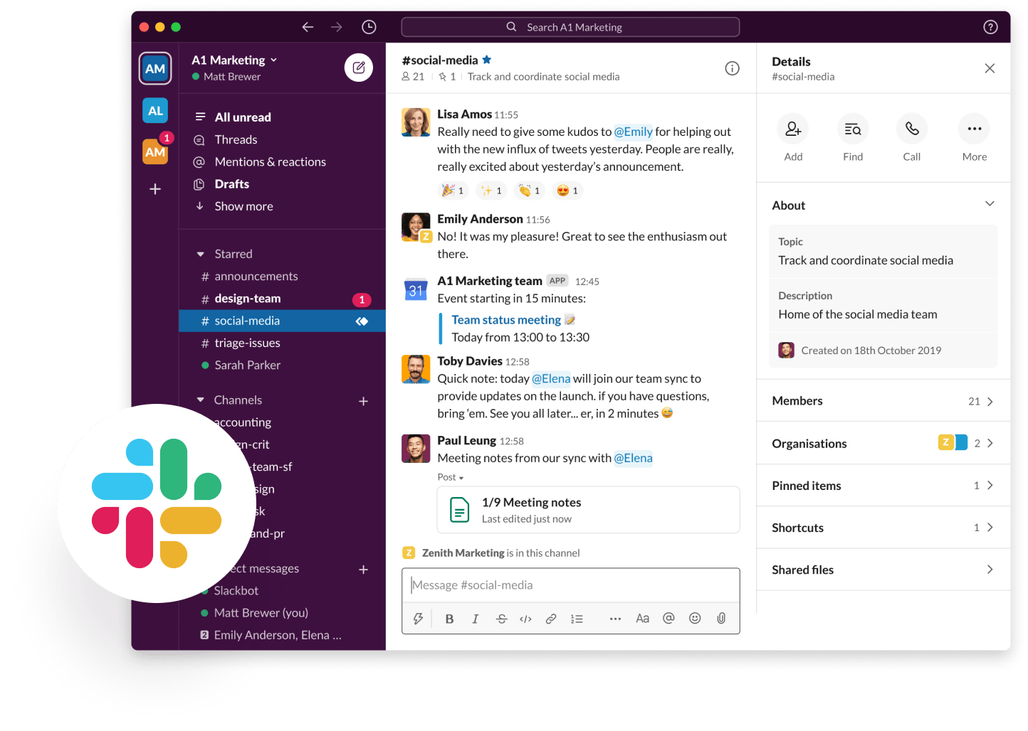 A picture of a Slack interface. Cloverly for Slack can help offset carbon emissions through this integration.